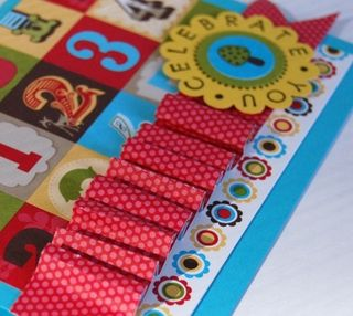 Abby's card paper ribbon