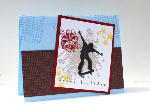 Bday Skater Card
