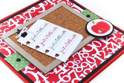 Teacher card upclose