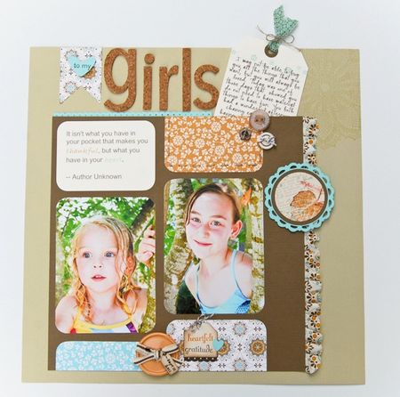 To My Girls Sketch 1 with Journaling Tag