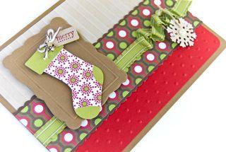 Christmas Lane stocking upclose