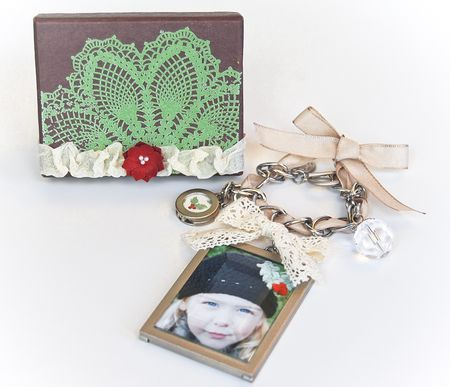 Jennifer Picard Holiday Facebook Project Box and Ornament