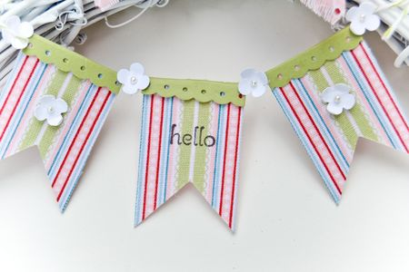 Hello Spring Wreath Banner