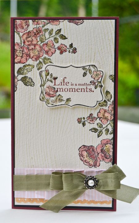 Life is a Matter of Moments card