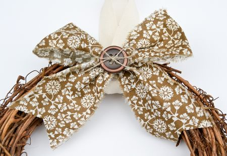 Comfort Cafe Wreath Bow