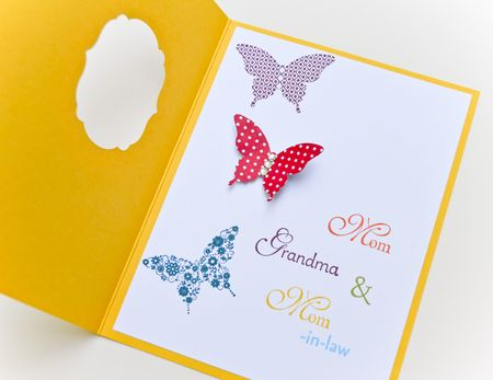 Inside of Butterfly card