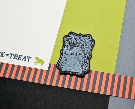 Halloween layout right page closeup