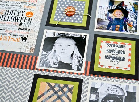 Halloween layout left page upclose
