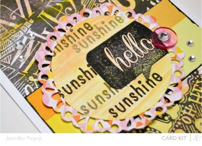 Watercolour Hello Sunshine sneak