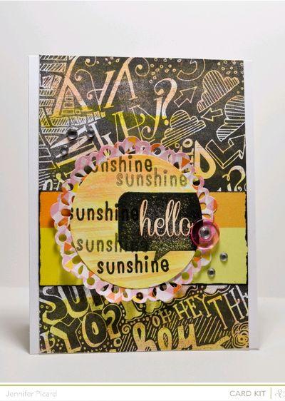 Watercolour Hello Sunshine
