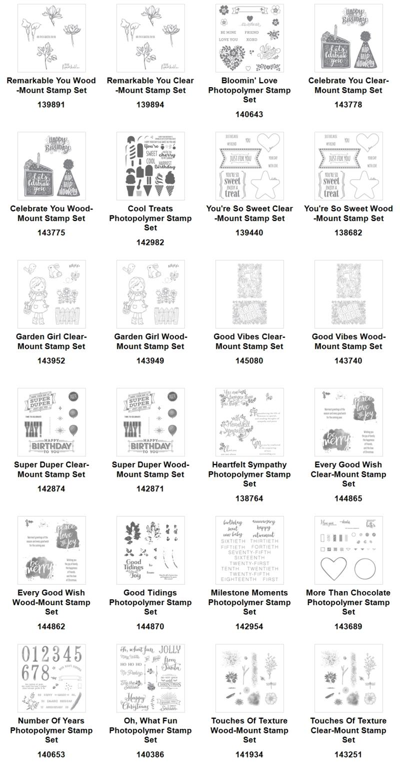 Showcase (3) sale stamp sets