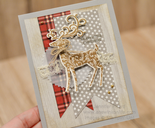 Nov Fancy Friday Christmas Card Dashing Deer