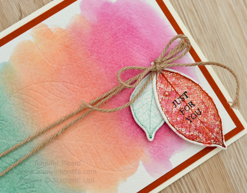 Fancy Friday Rooted in Nature Card close up