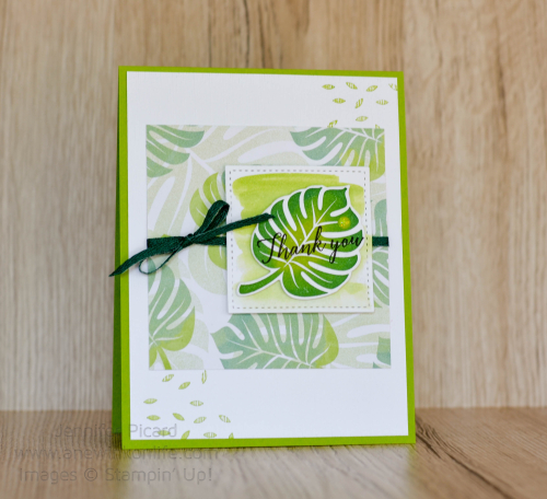 Fancy Friday Tropical Escape card full