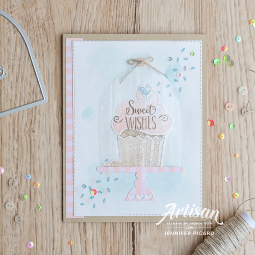 SAB coordination Artisan Blog Hop Hello Cupcake Full card