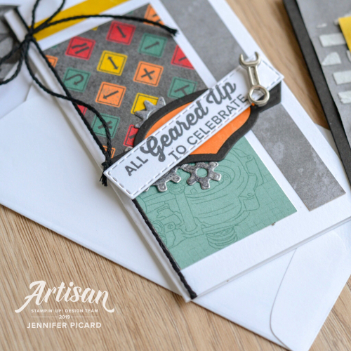 All Geared  Up March Artisan Blog Hop Mini Card