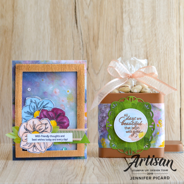 Artisan July Blog hop Perennial Essence Suite card and tin