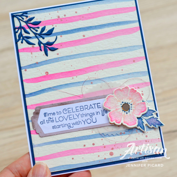 Everything is Rosy Artisan Blog Hop  watercolour card