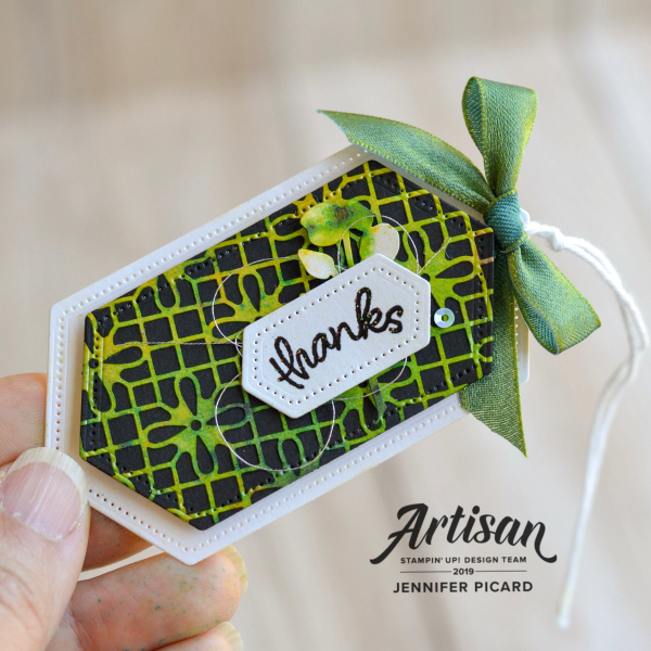 Shimmer Detailed Laser Cut Paper tag