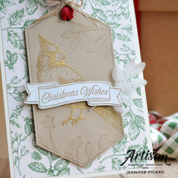 Toile Christmas Card