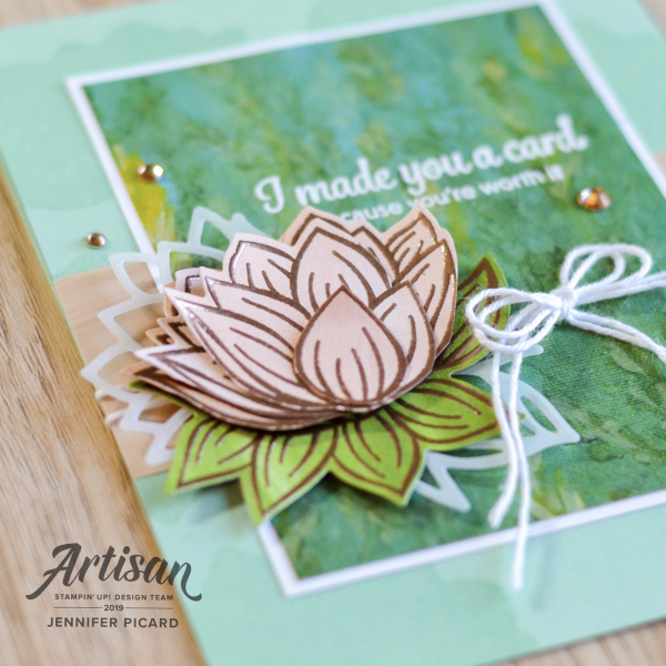 Artisan Design Team Blog Hop SAB 2020 Lovely Lily Pad (2)