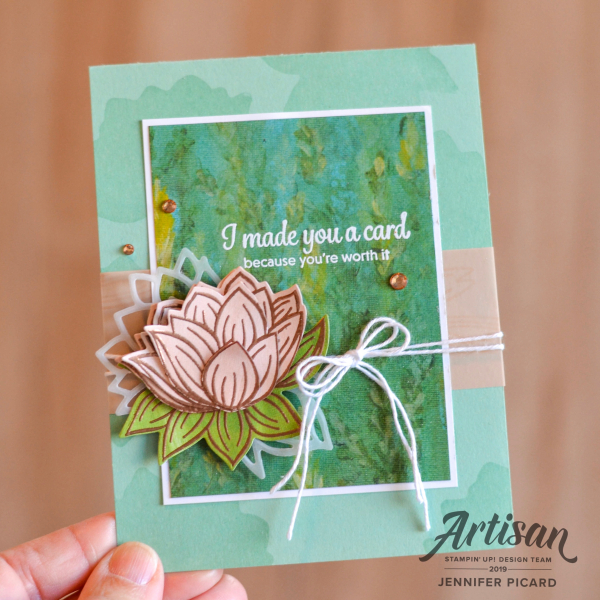 Artisan Design Team Blog Hop SAB 2020 Lovely Lily Pad (1)